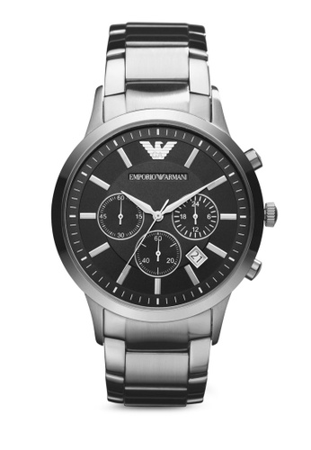 ARMANI black and silver Silver Steel / Black Armani AR2434 AR024AC87MVSMY_1
