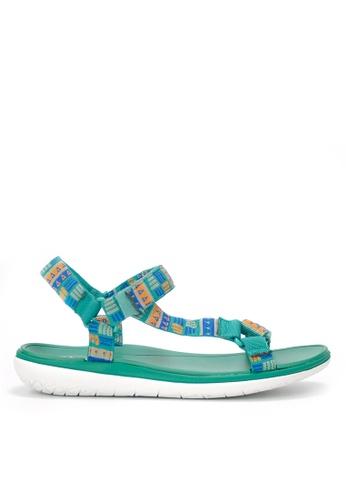 Twenty Eight Shoes 綠色 防水超輕涼鞋 JD16 01844SH028A3E4GS_1