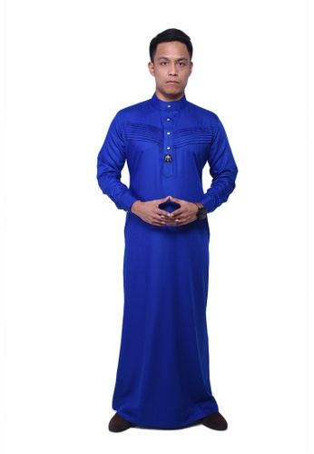 Maribeli Butik blue MB Man Jubah Qhalees 03 Royal Blue MA905AA40LUDMY_1