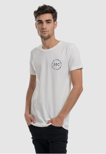 Stock & Co. white Stamped Signet Tee 8A8B2AAD52D610GS_1