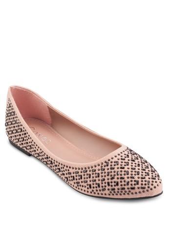 閃飾尖頭平底鞋、 女鞋、 鞋Mimosa閃飾尖頭平底鞋最新折價