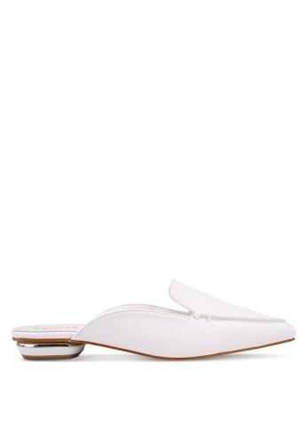 ZALORA 白色 尖頭穆勒鞋 ACF07SH61A9014GS_1