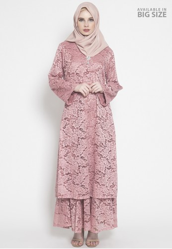 Kasa Heritage pink Hala Dress - Pink BFD83AA694937AGS_1