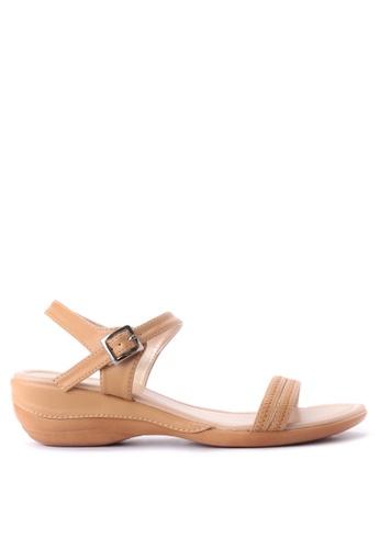 BANDOLINO brown Angie Flat Sandals BA161SH44NEPPH_1