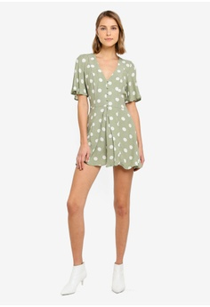 dc6b04e677 River Island Leaf Playsuit RM 255.00. Available in several sizes