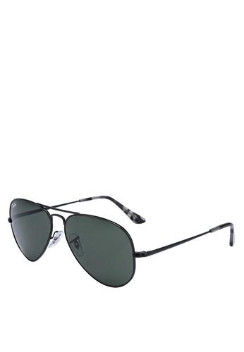 Ray-Ban black Ray-Ban RB3689 Sunglasses 7509DGL3A81830GS_1