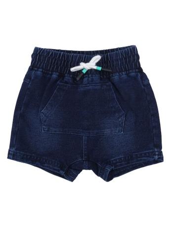 FOX Kids & Baby blue French Terry Drawstring Shorts 95E27KA6F7F43AGS_1