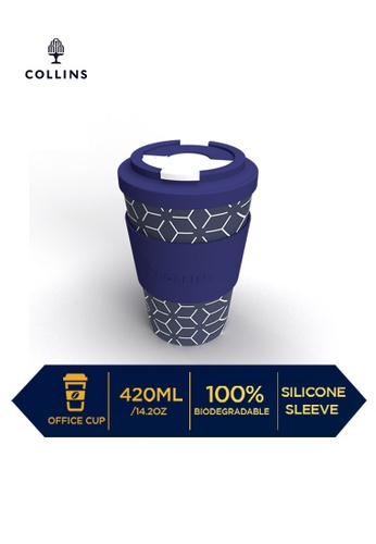 Collins blue Collins Dath Office Cup Geometric  ─  Lifestyle Products Collection  ─ Navy F0300HLF71F410GS_1