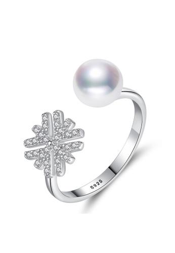 A.Excellence white Premium White Pearl Ring A40E2AC693D282GS_1