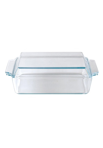 Slique n/a Premium Borosilicate Rectangle Glass Baking Dish With Lid 1500ml 1A606HL694F05BGS_1