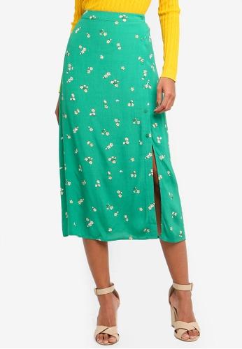 cbc8797e4 Buy WAREHOUSE Verity Ditsy Floral Midi Skirt | ZALORA HK