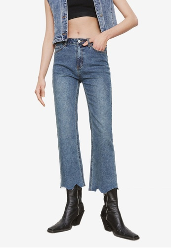 URBAN REVIVO blue Ripped Jeans 92B2DAAA9261AFGS_1