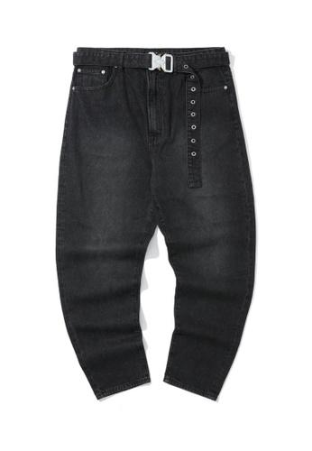 Fivecm black Safety buck belt jeans 38BF5AA1E63D01GS_1