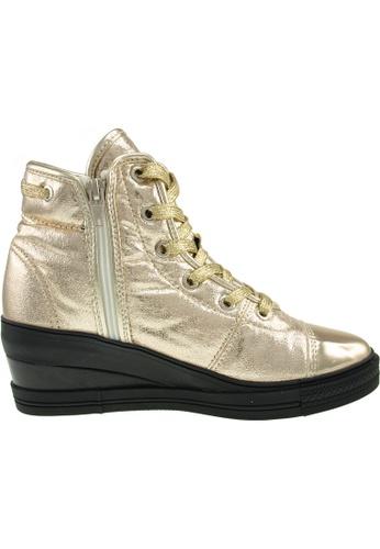 Maxstar gold Maxstar Women's 7H 020 Lace Up TC Low Wedge Heel Sneakers US Women Size MA164SH94PUNSG_1
