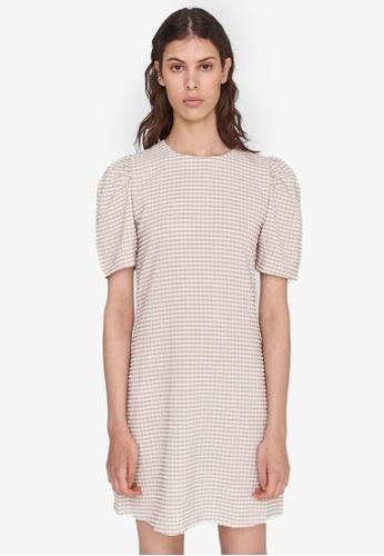Noisy May beige Fenja Puff Dress B2F6DAA6D04511GS_1
