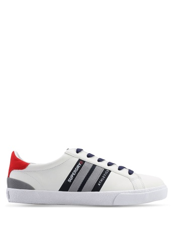 Superdry white Vintage Court Trainers 34082SHF17EB64GS_1