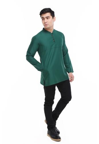Amar Amran green Kurta Rayqal 0119CAAB9D046CGS_1