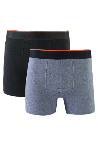 Superdry 灰色 and 綠色 Double Pack Classic Boxers 5F2C1USCFC69FEGS_1