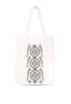 Dreamcatcher Embroidered Canvas Tote Bag