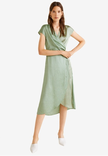 Mango green Polka Dot Midi Dress 971A6AA3ED96A3GS_1