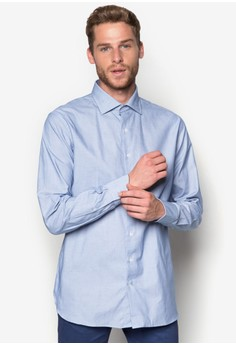 Slim-Fit Tailored Dot-Patterned Shirt