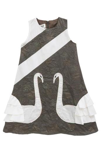 FIYORA grey Alexia Cotton Girl Dress 16771KA8FE32CCGS_1