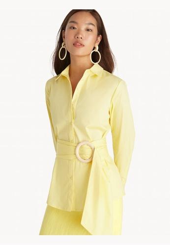 Pomelo yellow Round Belt Button Up Shirt - Yellow 5BA2EAA3B0281DGS_1
