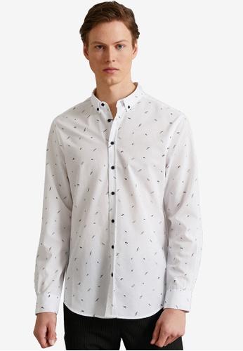 KOTON white Printed Shirt 0555CAAF0DED5AGS_1