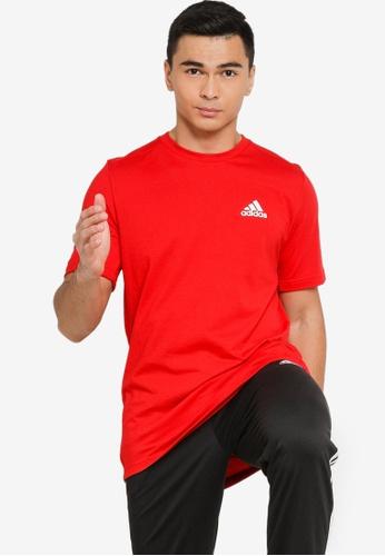 ADIDAS red aeroready designed 2 move feelready sport tee 39515AA816988CGS_1