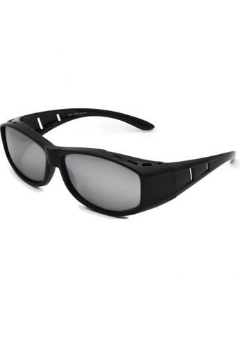 jojo black Classic Fitover Cut-Out Polarized Sunglasses 1344CGLE7946C7GS_1