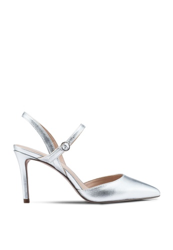 Banana Republic silver Cross Halter Madison Heels 8579FSH09C70CDGS_1