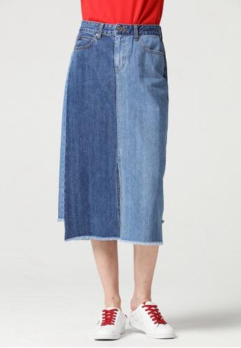 Guess blue Guess Asymmetric Midi Denim Skirt B0121AA11EEA68GS_1