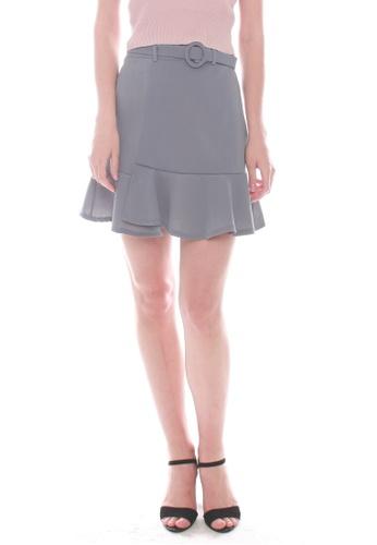 JOVET blue Fluted Hem Skirt 4BBBBAA7E84943GS_1