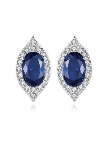 SUNRAIS silver Premium Silver S925 silver drop earrings 444D1ACBC07517GS_1
