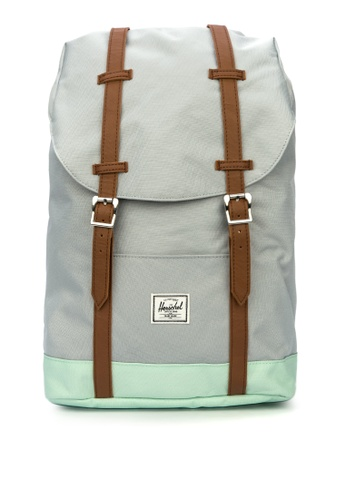 Herschel grey Retreat Mid Backpack 0A437AC23541FFGS_1