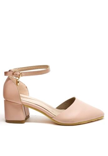 Twenty Eight Shoes 粉紅色 簡約尖頭中踭鞋 426BESHFCC098FGS_1
