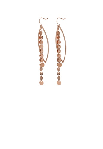 Glamorousky silver Fashion and Elegant Plated Rose Gold Geometric Tassel 316L Stainless Steel Earrings 5E573ACCC82A0AGS_1