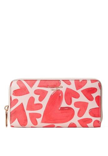 kate spade new york pink Zip Around Continental Wallet B9FA8AC316288FGS_1