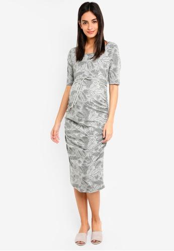 Noppies grey Maternity Benthe 1/2 Sleeve Dress 0D369AA56D9BD1GS_1