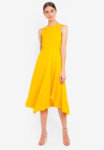 d5ac53ad12b6 Buy WAREHOUSE Tie Back Midi Dress   ZALORA HK
