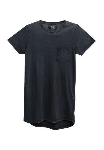 Cotton On 黑色 Longline Scoop Hem Tee 76CAEAAEDB2606GS_1