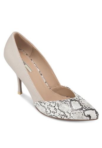動物紋拼接尖頭高跟鞋, 女鞋, 高跟zalora taiwan 時尚購物網鞋子鞋