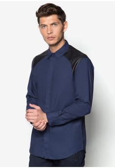 XM-Quilted PU Yoke Long Sleeve Shirt