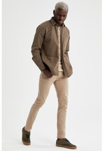 DeFacto brown Man Woven Trouser 05642AA71A20CBGS_1