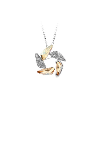Glamorousky yellow Fashion Windmill Pendant with Champagne Austrian Element Crystal and Necklaces B4A2DACEA9A838GS_1