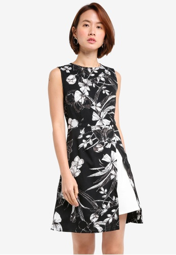 ZALORA black Split Hem A Line Dress DCF2FAA01D8362GS_1