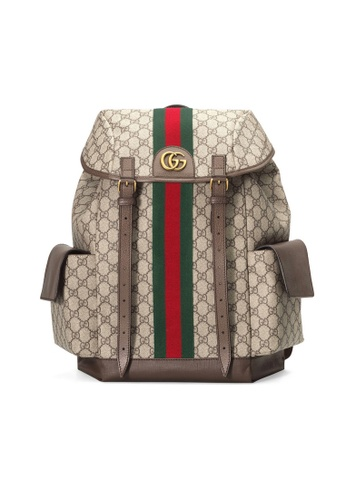 Gucci brown Gucci Ophidia Gg Medium Backpack in Beige/Ebony 61A5AAC88B5714GS_1