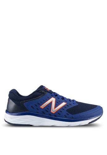 New Balance navy 490 Responsive Fitness Running Shoes NE323SH0SVCZMY_1