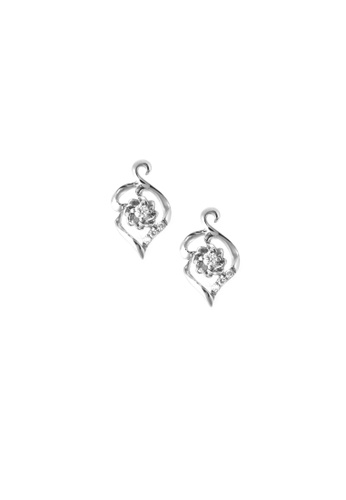 GOLDHEART gold GOLDHEART Earrings of Floraison with Foliage Resplendence, Diamond White Gold 750 (E2053V) AF8ADACF4F16EDGS_1