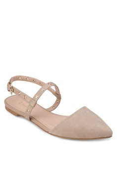 Pointed Ballerinas With Stud Details
